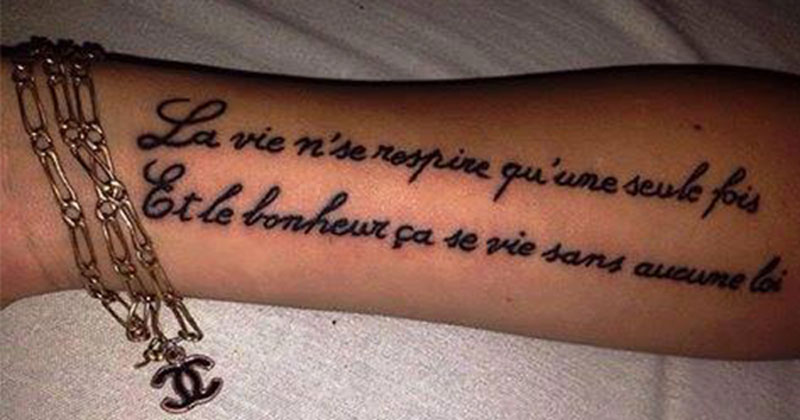Tatouage Le Massacre Continue Bescherelle Ta Mere